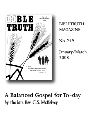 Bible Truth Magazine No. 249 articles